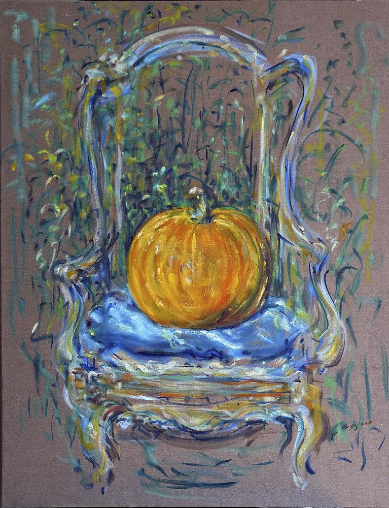 Pumpkin on Chair #3